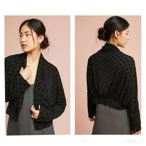 Anthropologie sheer polka dot jacket - size medium